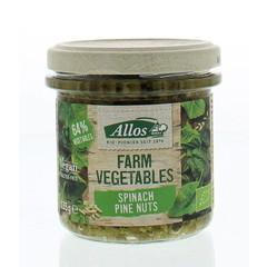 Allos Bauerngemüse Spinat & Pinienkerne 135 Gramm