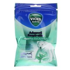 Vicks Atemfreier eukalyptuszuckerfreier Beutel 72 Gramm