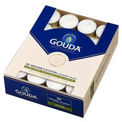 Gouda Teelicht 4,5 Stunden weiß 60 Stück
