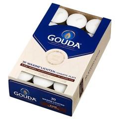 Gouda Teelicht 8 Stunden weiß 30 Stück