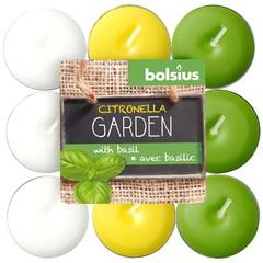 Bolsius Teelichter Zitrone / Basilikum 18 Stk