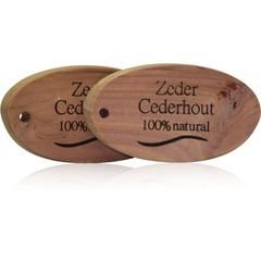 Beautylin Zedernholz oval 100% natürlich 3 Stück