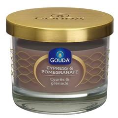 Gouda Gefüllter Glassandstein / Zypresse & Granatapfel 66/80 1 Stck