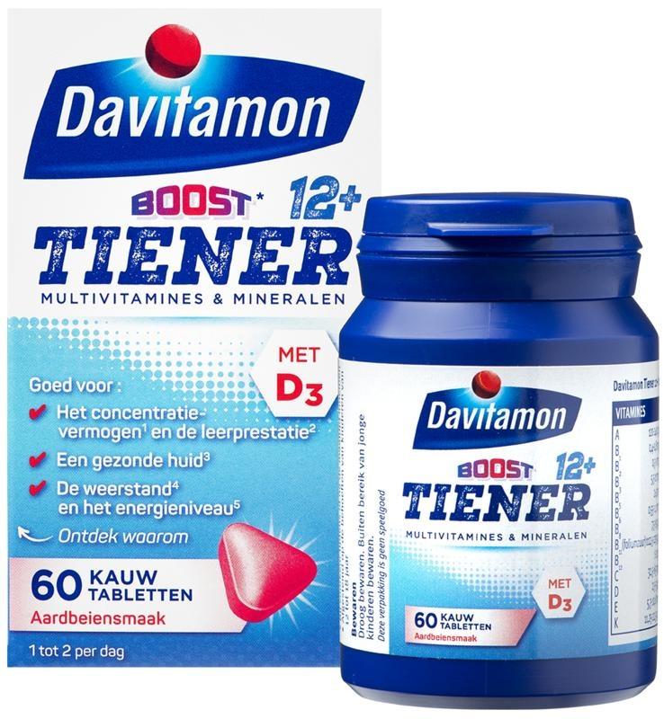 Davitamon Davitamon Multiboost 12+ Erdbeere (60 Tabletten)