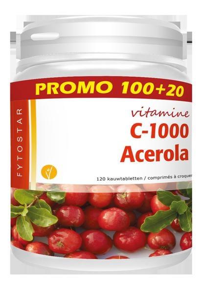 Fytostar Fytostar Acerola Vitamin C 1000 (100 + 20 Lutschtabletten)