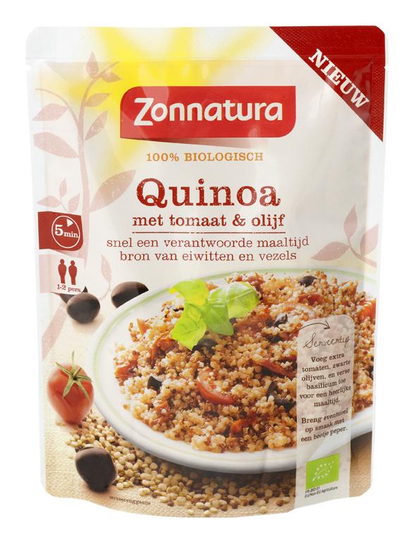 Zonnatura Zonnatura Quinoa Oliven & Tomaten 250 Gramm