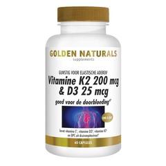 Vitamin K2 200 mcg & D3 25 mcg 60 vcaps