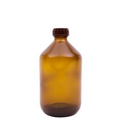 Medizinflasche verschlossen braun 500 ml 28 mm 8 Stück