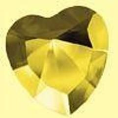 Elohim Herz 40 mm Freude gelb 56 1 Stck