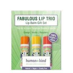 Lippenbalsam veganes Trio 3er Pack