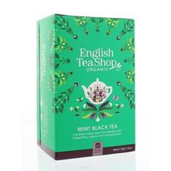 Mint schwarzer Tee 20 Beutel
