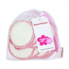 Wattepads waschbar weiß / pink 10 Stück