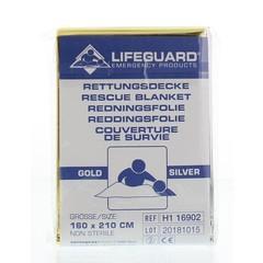Rettungsdecke Gold / Silber 160 x 210 1 Stck