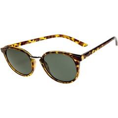 Sonnenbrille dunkel rund Havanna 1 Stck