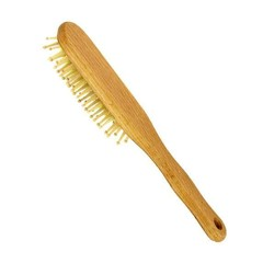 Haarbürste Holz Nieten Buchenholz Oval 1 Stck