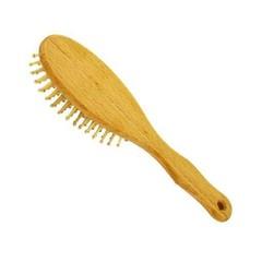 Haarbürste Holz Noppen Buchenholz groß 1 Stck