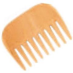 Holz Afro Kamm Buchenholz klein 1 Stck