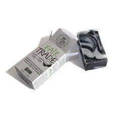 Holzkohle / Zitrone / Eukalyptus Seife Fair Trade 100 Gramm