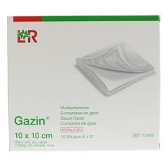 Gazin Gaze Kompresse 10 x 10 sterile 5 x 2 10 Stück