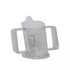 Handliche Tasse mit Deckel transparent 1 Stk