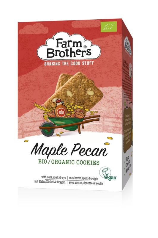 Farm Brothers Ahorn & Pekannuss Kekse vegan 150 Gramm