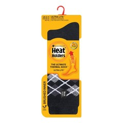 Herren Ultra Lite Socken Argyle Schwarz 6-11 1 Paar