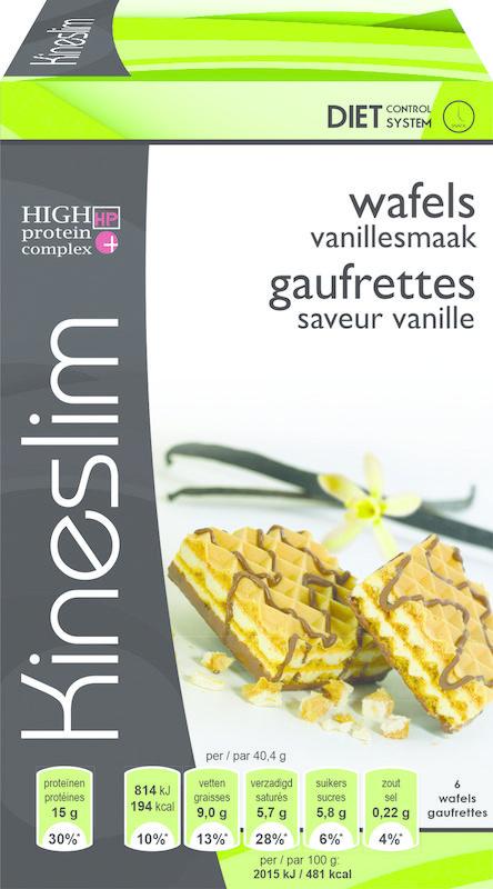 Kineslim Vanille-Waffeln 3 x 2 Stück 6 Stück