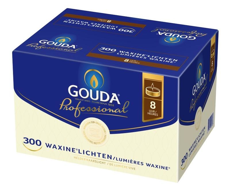 Gouda Teelicht 8 Stunden weiß 300 Stück