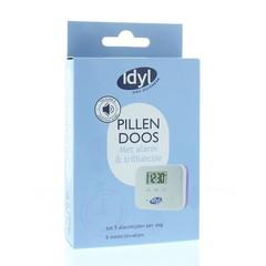 Pillendose mit Alarm- und Vibrationsfunktion 6 Fächer