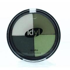 Lidschatten quatro CES 102 grün / anthrazit / weiß