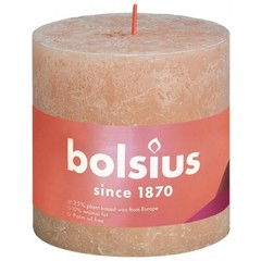 Rustikale Stumpenkerze Glanz 100/100 Misty Pink