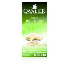 Weißer Schokoladenreis knusprig gesüßt mit Stevia