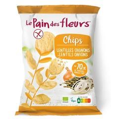 Chips mit Linsen und Zwiebeln Bio