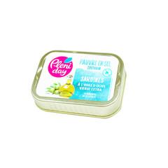 Sardinen in Olivenöl mit wenig Salz