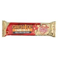Proteinreicher Riegel weiße Schokolade gesalzene Erdnuss