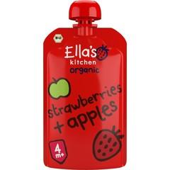 Erdbeeren und Äpfel 4+ Monate bio