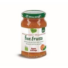 Aprikosen und Pfirsiche mit Basilikummarmelade Bio