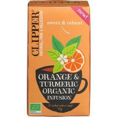 Orangen-Kurkuma-Aufguss bio