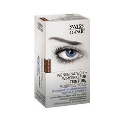 Augenbrauen- und Wimpernfarbe braun
