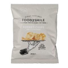 Gepoppte Chips Salz & Pfeffer glutenfrei laktosefrei