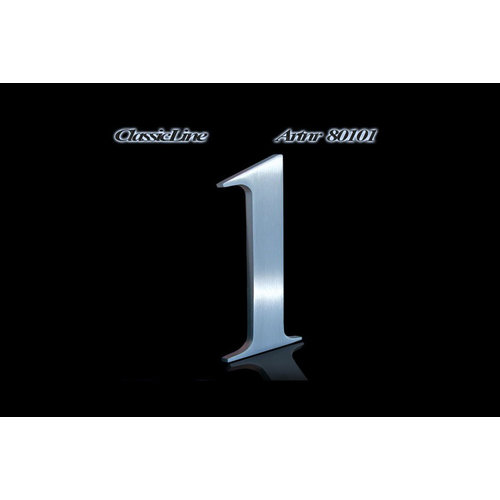 Mailbox design  Stainless Steel House Number - model Classic, Number 1