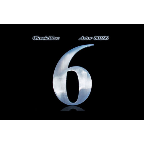 Mailbox design  Stainless Steel House Number - model Classic, Number 6