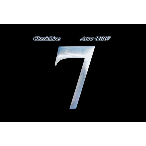 Mailbox design  Stainless Steel House Number - model Classic, Number 7