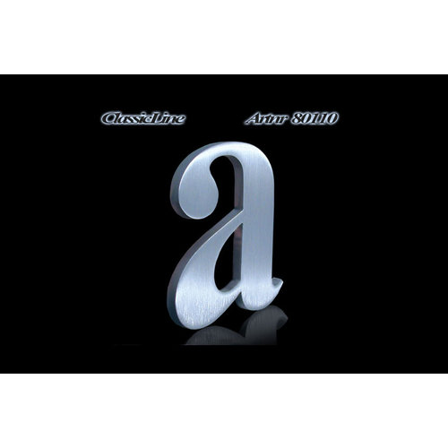 Mailbox design  Stainless Steel House Number - model Classic, letter a