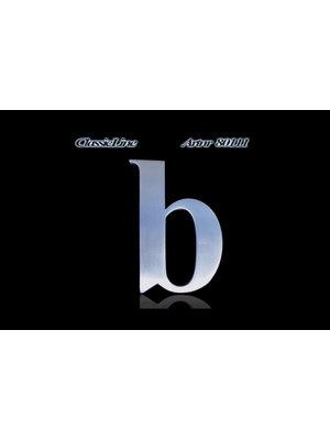 Mailbox design Inox RVS huisnummer - Classic, letter b