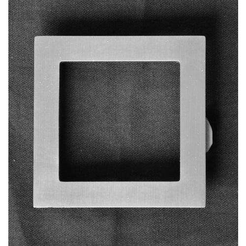 Mailbox design Inox RVS huisnummer -  model Square, cijfer 0