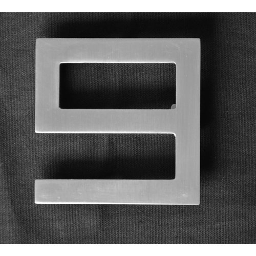 Mailbox design Stainless Steel House Number - model  Square, number 9