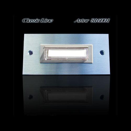 Mailbox design Deurbel Rechthoek -Type 6001 - 100 x 48 mm