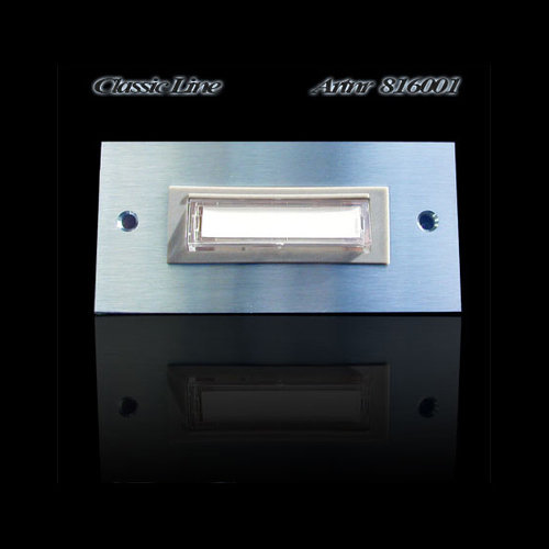 Mailbox design Doorbell Rectangle -Type 6001 - 100 x 48 mm