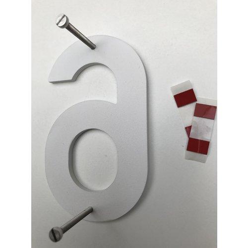 Albo Aluminium huisnummer - Model C32 - cijfer 0
